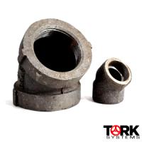 Aluminum 45 degree elbow threaded and socket weld