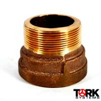 Bronze adapter fitting sil-braze MPT 400 lb
